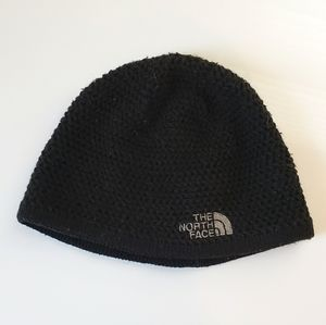 4/$20 The North Face Black Knit Stocking Hat Logo